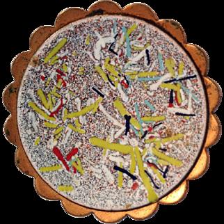 Mid century enamel pin