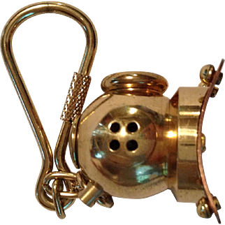 Brass and copper key ring