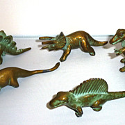 Rare Antique SRG Sell Rite Giftware Metal Brass Dinosaur Collection