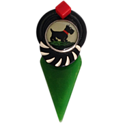 Vintage Charming 30's 40's Bakelite Scottie Pin