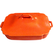 Homer Laughlin Covered Casserole Riviera Orange