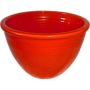 Original Fiesta Ware Red Orange Mixing Bowl 1936-1942