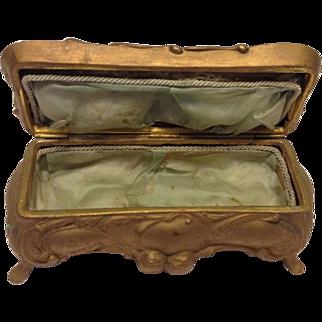 Vintage X-Large Art Nouveau Jewelry Cache Casket