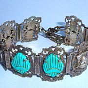 Unique Vintage Handmade Sterling Turkish Bracelet