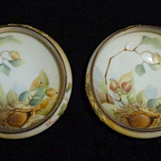 Two Small Hand Painted Nippon Nut bowls Acorn Design