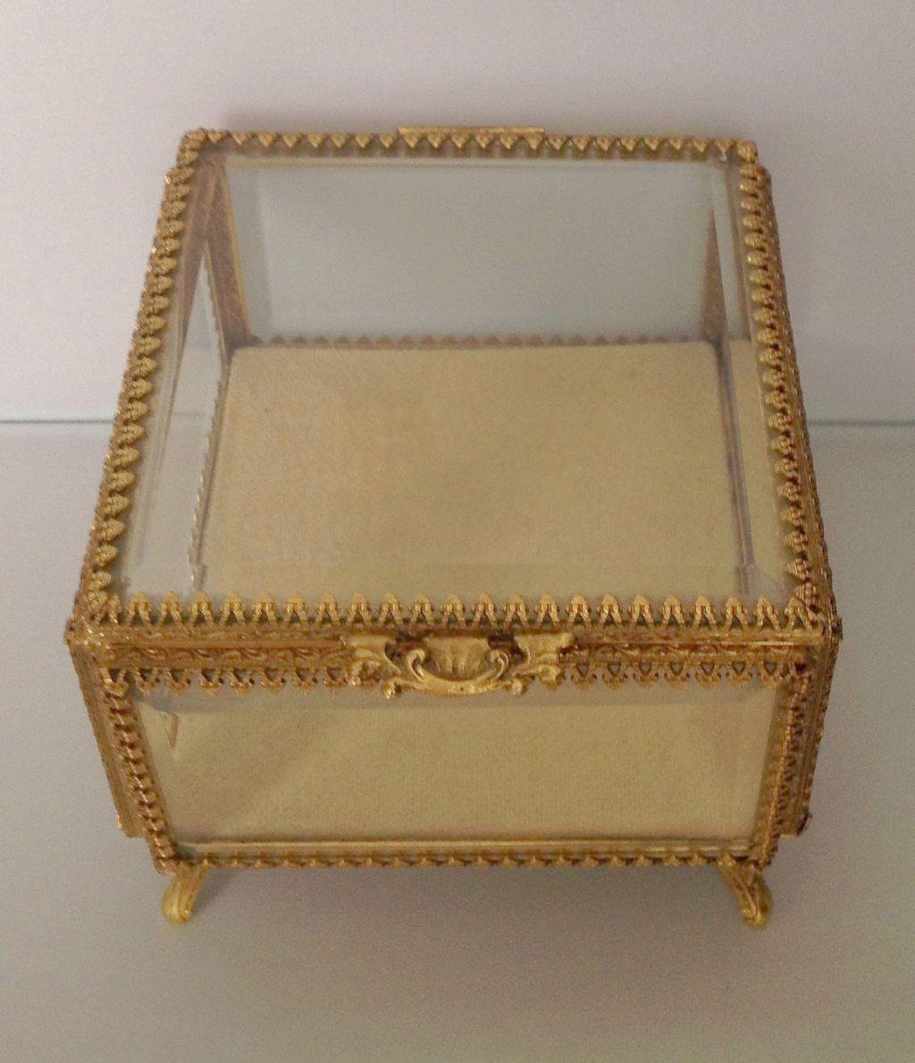 Vintage Stylebuilt Jewelry Casket Box Ormolu Gold