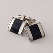 Vintage Onyx and Mother of Pearl Cufflinks