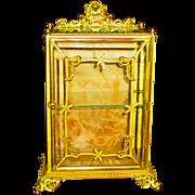 Art Nouveau Bronze & Gilt Display Miniature Vitrine Case