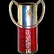 Loetz 1908 Ausfuehrung Jugendstil Secessionist Titania Argentor Mounted Vase