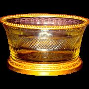Large & Superb Cut Crystal & Ormolu French Recency Centerpiece Ca. 1850