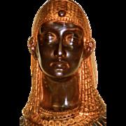 19th Century Egyptian Revival Bronze Cleopatra on Ebonized Base
