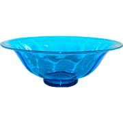 Large Carder Steuben Art Glass Bowl #2851 in Celeste Blue