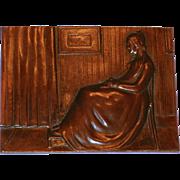 "Antique James McNeill Whistler ""Whistler's Mother"" Bronze Plaque"