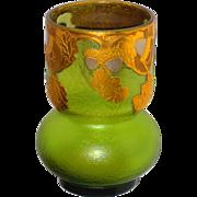 Mont Joye Le Gras French Cameo Vase w/Acorns