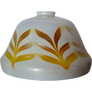 Quezal Iridescent Large Decorated Art Glass Shade for Table Lamp