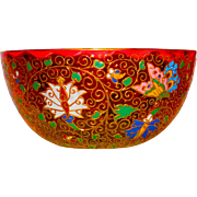 Superb Kakiemon Moser Enamel & Gilt Amberina Bowl