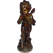 Large Victorian French Bronzed Sculpture of a Magical Fairy
