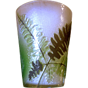 Rare Galle Cameo Miniature Toothpick, Liquor, or Vase w/Ferns