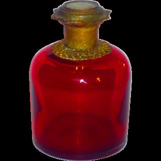 Grand Tour Palais Royale Cranberry Glass Cologne Perfume w/Mounts