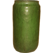 Arts & Crafts Matte Green Glaze Mission Art Pottery Vase
