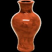 Antique Peking Glass Cabinet Vase Imitation Realgar Mineral