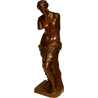 Classical Antique Bronze Barbedienne Foundry Venus De Milo
