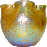 Loetz Papillon Iridescent Art Glass Vase