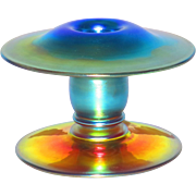 Durand Iridescent Art Glass Candlestick