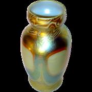 Fine L.C. Tiffany Decorated Favrile Cabinet Vase