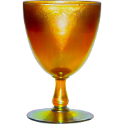 L.C. Tiffany Favrile Glass Golden Iridescent Chalice