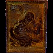 Heavy St. John the Evangelist Cast Iron Architectural Fragment Plaque