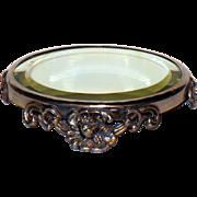 Scarce Small Size Victorian Mirrored Plateau in Silver Plate