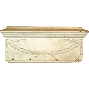 Neo Classical Wooden Architectural Element w/Old White Paint