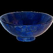 Lapidary Art Lapis Lazuli Large Stone Bowl w/Excellent Color
