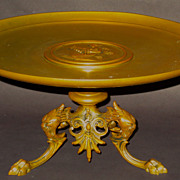 Large and Fine French Tazza w/Superb Details...Maiden & Monsterss