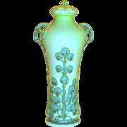 Sevres Art Nouveau Porcelain Vase w/Lid Hydrangeas