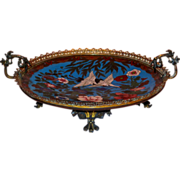 Meiji Cloisonne Charger w/ French Bronze Gilt Mounts
