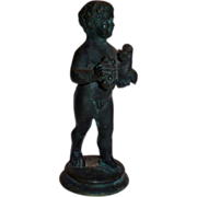Grand Tour Bronze Naked Boy w/Goose copy of Roman Antiquity