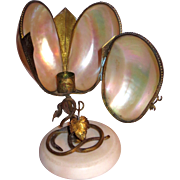 Grand Tour Palais Royale Mother of Pearl Candle Lamp