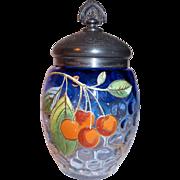 Enamel & Gilt Pickle Castor Jar