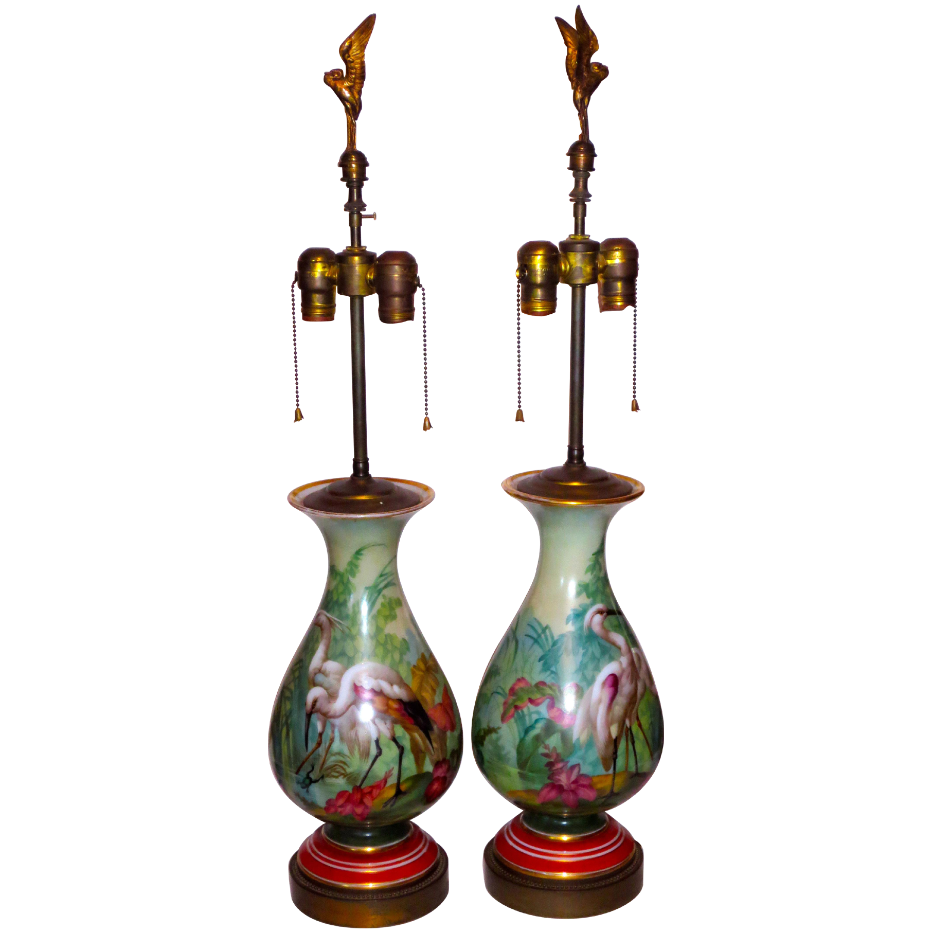 hp lamps birds frogs figural finials from lionsgate on ruby lane. Black Bedroom Furniture Sets. Home Design Ideas