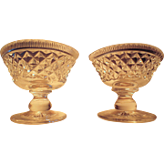 Pair Cut Glass Anglo Irish Cut Glass Salts Ca. 1850