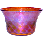 Tiffany Favrile Diamond Quilted Stretch Iridescent Bowl