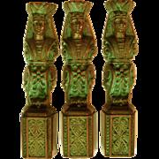 Set Egyptian Revival Bronze Elements Renaissance Revival Pharoah Mounts