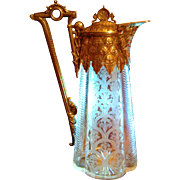 Fine Victorian Cut Glass Mounted Claret Jug of Exceptional Quality
