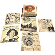 "1936 Complete Boxed Set of 5 Shirley Temple Books ""5 Books About Me"""