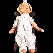 Minty Vintage 1961 Whimsie Hedda Get Bedda 3-Faced Doll Original PJS Great Condition