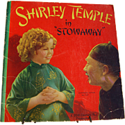 "1937 Shirley Temple ""Stowaway"" Movie Saalfield Book"