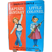 Shirley Temple Captain January/Little Colonel Book with DJ OOP 1950s