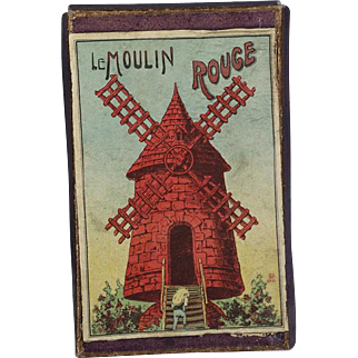 Lovely Antique c1900s Small French Game MOULIN ROUGE